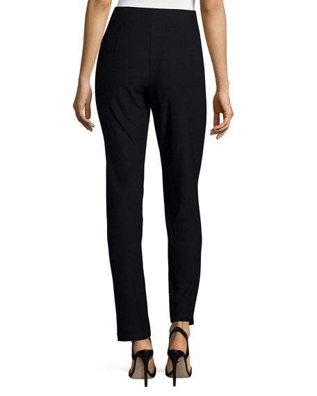 Washable-Crepe Straight-Leg Pants, Plus Size