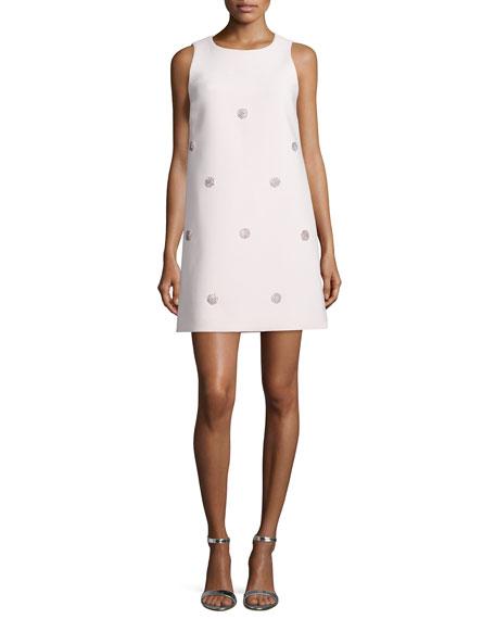 kate spade new york sleeveless beaded shift dress