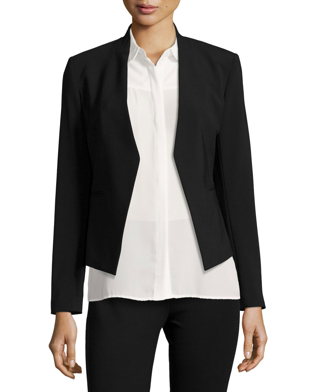 fd4455574b Theory Lanai Open-Front Jacket, Black | Neiman Marcus