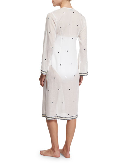 Bandana Tie-Front Kimono Coverup