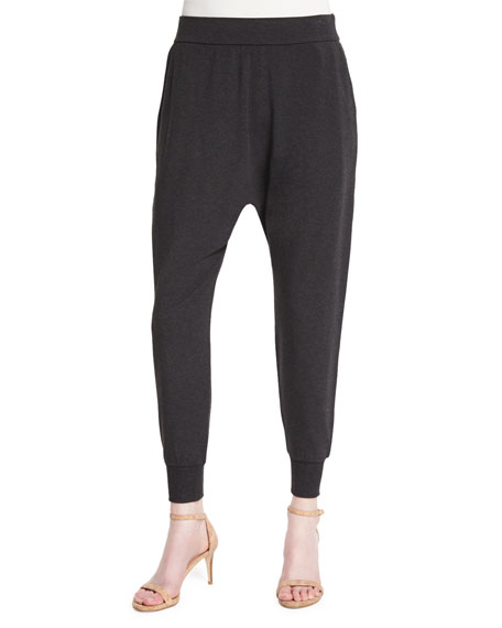 Eileen Fisher Cozy Slouchy Ankle Pants, Charcoal