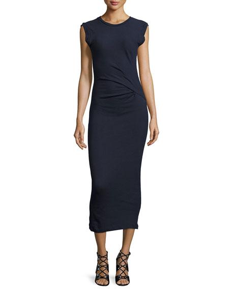 IRO Pricie Jersey Midi Dress, Navy