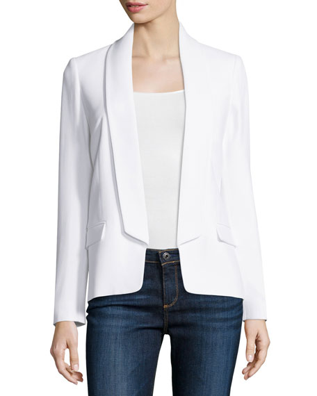 Michael Kors Collection Shawl-Collar Tuxedo Jacket, Optic White