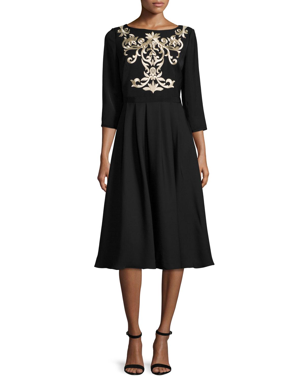 40fcdfd03965 Ted Baker London Shamari Embroidered-Bodice Dress
