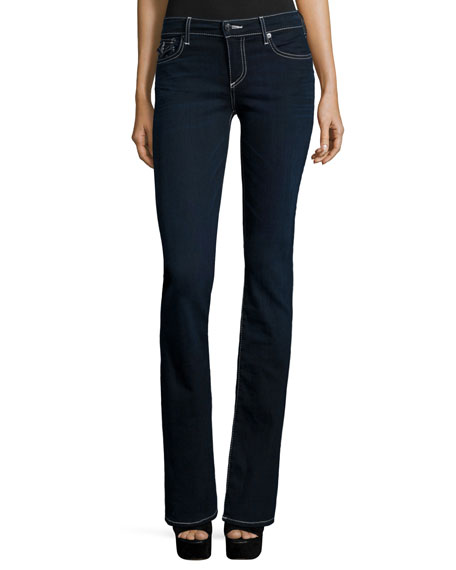 True ReligionBecca Mid-Rise Boot-Cut Jeans, Painful Love