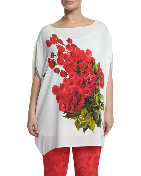 Marina Rinaldi Large Flower Long Blouse & Floral