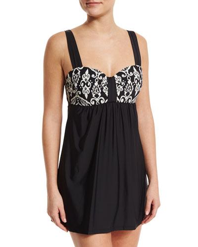 Sand Tropez Swim Dress, Black