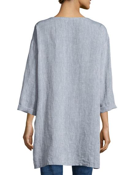 Long Yarn-Dye Tunic, Petite