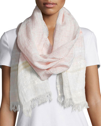 Airy Maltinto Linen-Blend Scarf