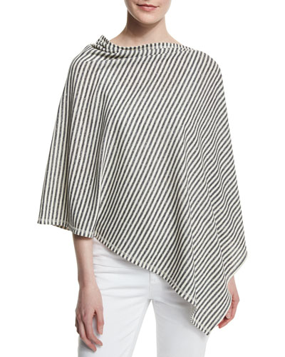 Striped Reversible Poncho, Moon