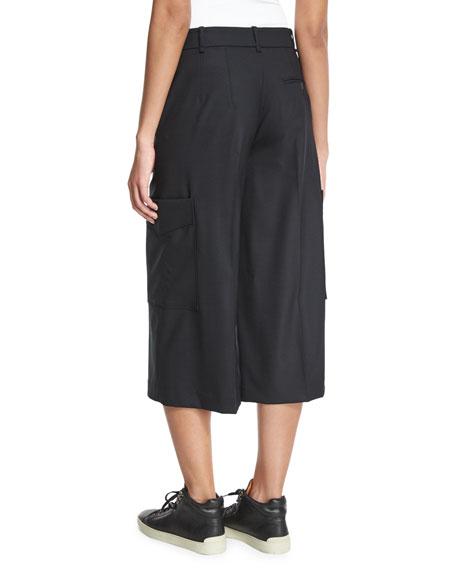Rag & BoneEllis Wide-Leg Cropped Pants, Black