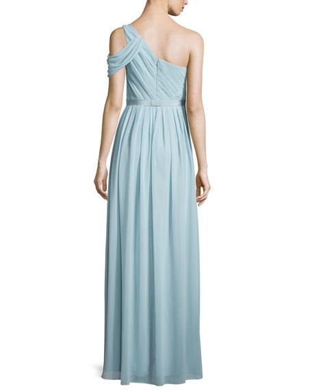 Chloe One-Shoulder Chiffon Gown