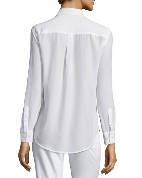 Slim Signature Long-Sleeve Shirt, Bright White