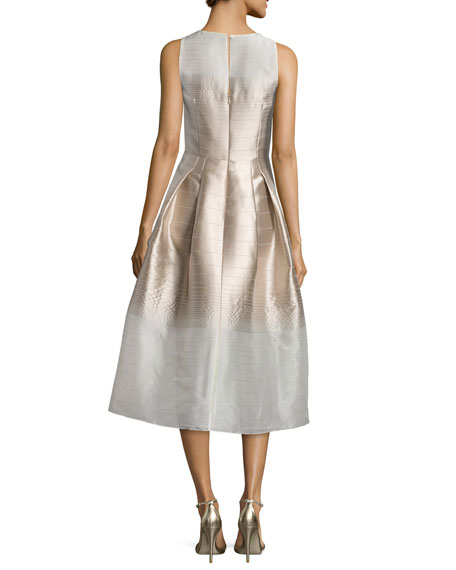 Real Brides Fit And Flare: Kay Unger New York Sleeveless Ombre Fit-&-Flare Dress
