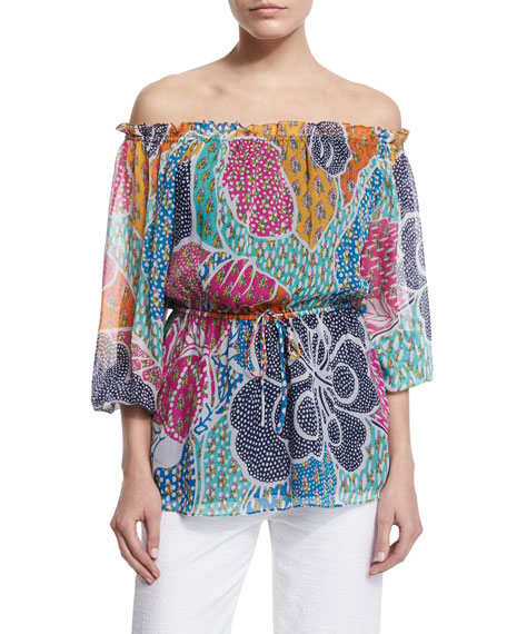Diane von Furstenberg Camila Flower Power Dream Silk