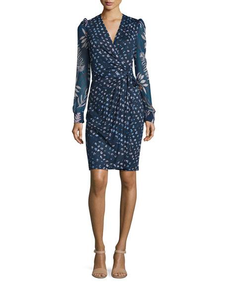 Diane von Furstenberg 3/4-Sleeve Printed Wrap Dress, Daisy