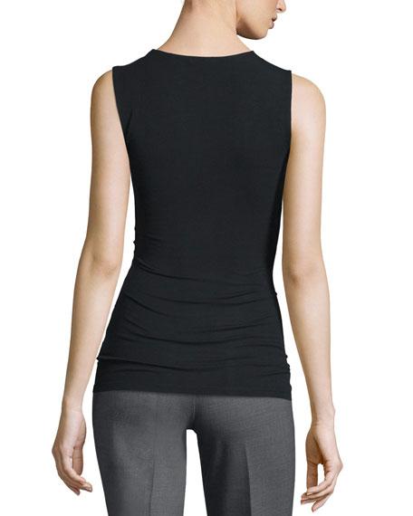 Theory Mirinz Stretch-Knit Sleeveless Top