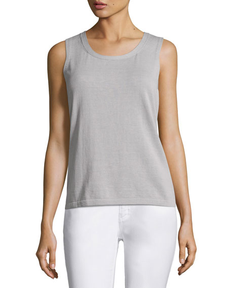 Lafayette 148 New York Scoop-Neck Cotton Knit Shell