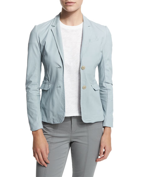 ATM Anthony Thomas Melillo Leather Schoolboy Blazer, Powder