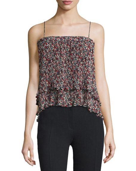 Pleated Convertible Chiffon Cami/Skirt, Confetti