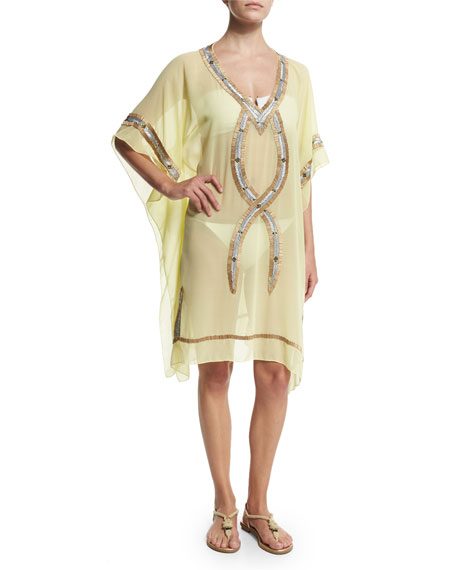 6 Shore Road by Pooja Beaded Kuna Kaftan