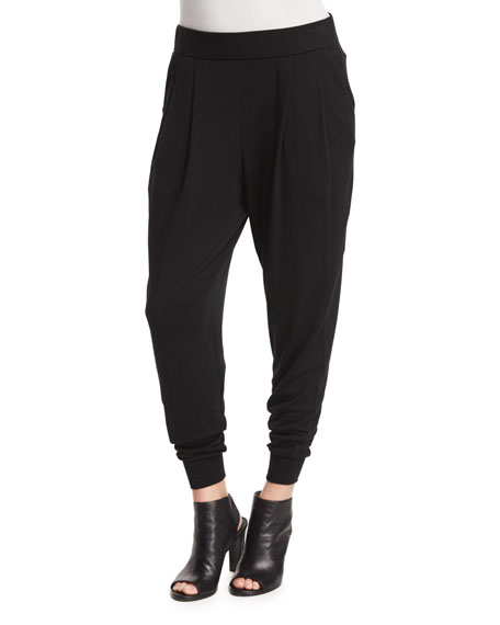 Eileen Fisher Cozy Slouchy Ankle Pants, Black