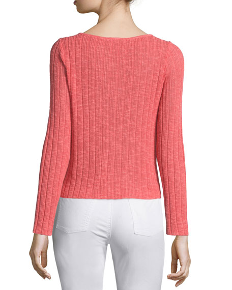 Classic Long-Sleeve Ribbed Box Top