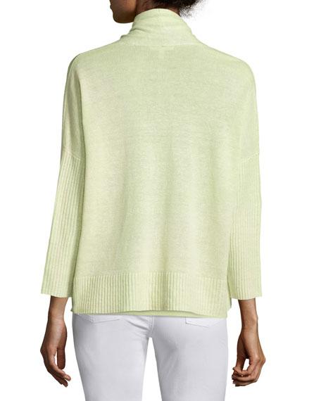 Organic Linen 3/4-Sleeve Cardigan