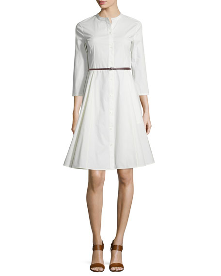 Theory Kalsingas Belted Light Poplin Shirtdress