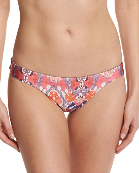 Rhapsody Printed Reversible Low-Rise Swim Bikini Bottoms