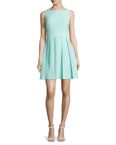 kate spade new york sleeveless bow-back mini dress,
