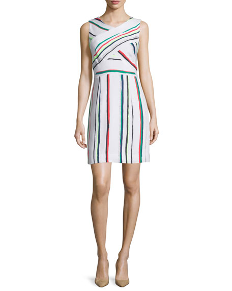 Milly Allison St. Tropez Striped Dress, Multi Colors