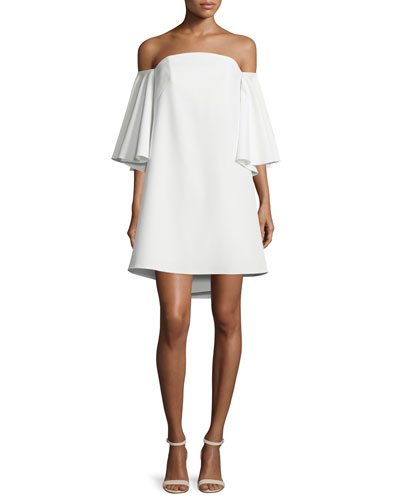 Mila Off-The-Shoulder Mini Dress, White