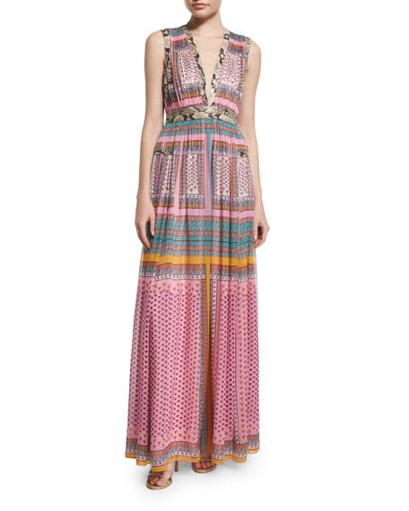 Diane von FurstenbergLelani Silk Zen Scarf Maxi Dress,