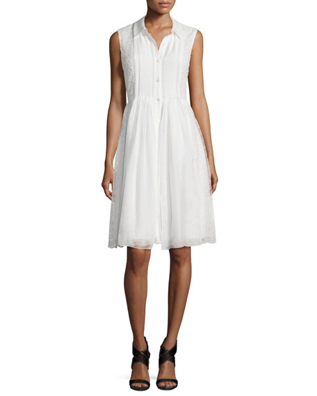Diane von Furstenberg Nieves A-Line Dress, White