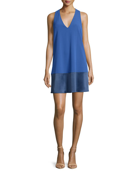 Alice + Olivia Daralee Paneled Racerback Mini Dress,