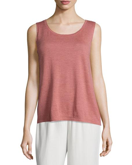 Eileen Fisher Sleeveless Lightweight Wool Shell