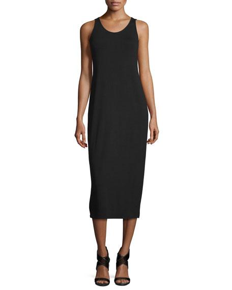 Eileen Fisher Sleeveless Jersey Midi Dress, Plus Size