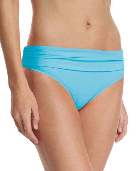 Athena Cabana Solids Banded Swim Bottom