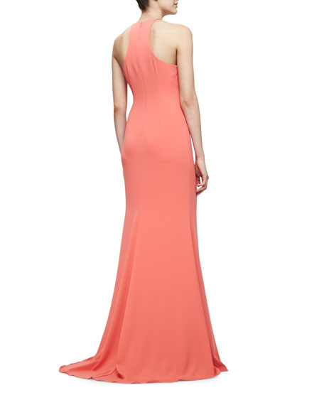 Sleeveless Halter Gown