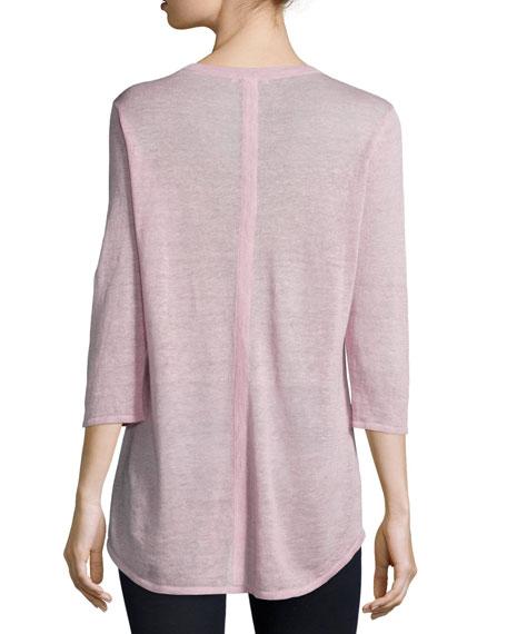 3/4-Sleeve V-Neck Tunic