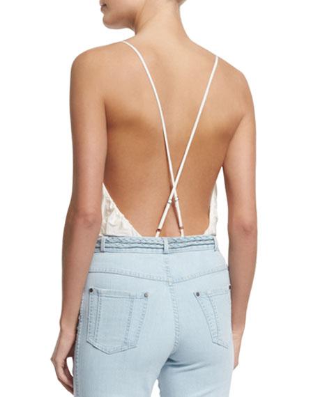 Surplice Cross-Back Ballerina Bodysuit