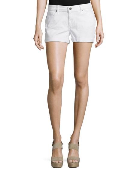 Paige Denim Jimmy Jimmy Denim Shorts, Optic White