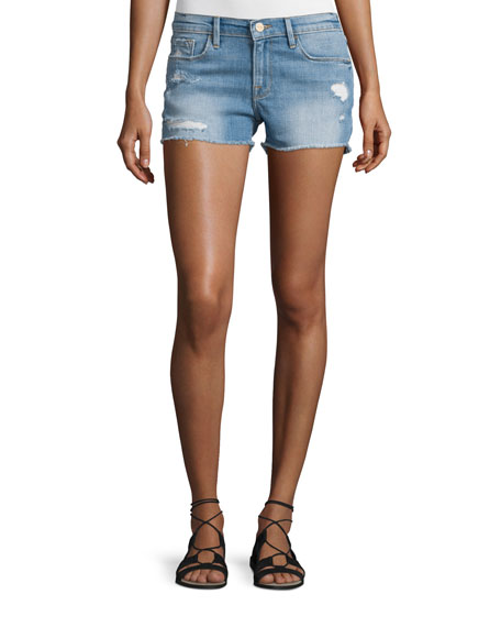FRAME Le Cut Off Denim Shorts, Oxnard