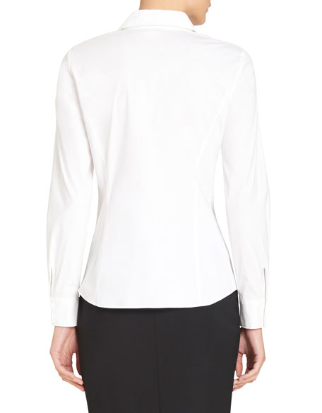 Katie Side-Zip Blouse, Plus Size