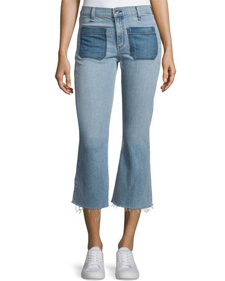rag & bone/JEAN Santa Cruz Flare-Leg Cropped Jeans, Patch Varick