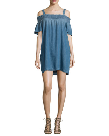 The Madeline Cold-Shoulder Shift Dress, Davis