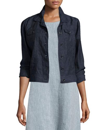 Organic Linen Jean Jacket, Denim Reviews