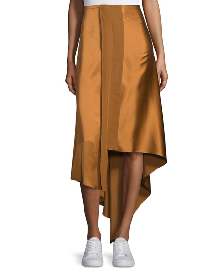 Elizabeth and James Sydney Silk Satin Midi Skirt,
