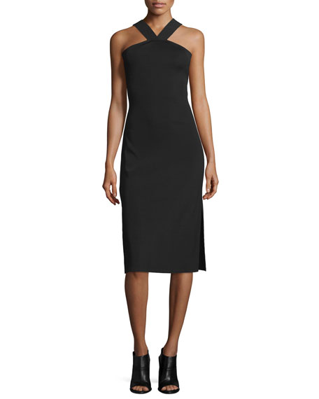 Rag & Bone Rachel Sleeveless Ribbed Midi Dress,